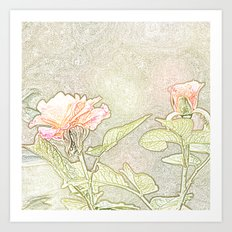 Flower Sketch 4 Art Print