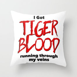 Tiger Blood Throw Pillow