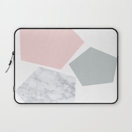 Blush, gray & marble geo Laptop Sleeve