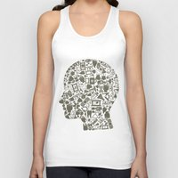 medicine Tank Tops featuring Head medicine by aleksander1