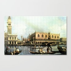 Return of the Bucintoro to the Molo on Ascension Day (Painted in 1729) Canvas Print