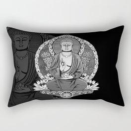 Gautama Buddha - Monotone Rectangular Pillow