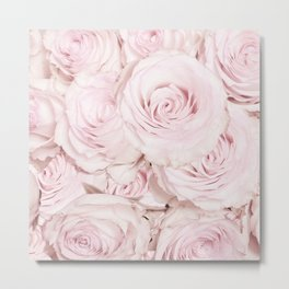 Roses have thorns- Floral Flower Pink Rose Flowers on #Society6 Metal Print