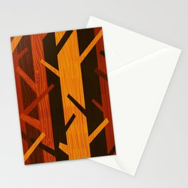Retro Fall Woods by Friztin Stationery Cards