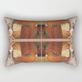 She's a tiger - a modern collage in orange Rectangular Pillow