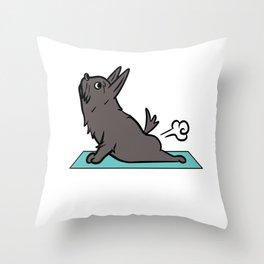 Scottish Terrier Yoga Pose Throw Pillow