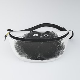 Duster - Black Cat Drawing Fanny Pack