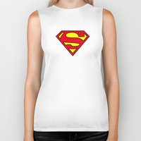 daenerys Biker Tanks featuring Superman Blood Logo by Veylow