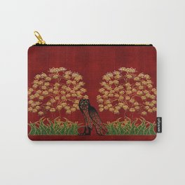 Owl Tapestry Carry-All Pouch