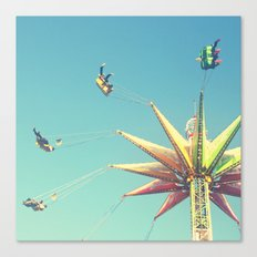 Flying Chairs at the Carnival Canvas Print