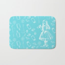 Alice in Wonderland and Jars Bath Mat