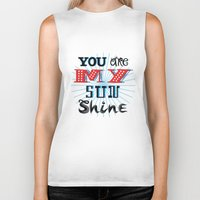 you are my sunshine Biker Tanks featuring You Are My Sunshine by Oliver Lake