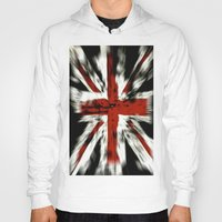 uk Hoodies featuring UK Flag by WonderfulDreamPicture