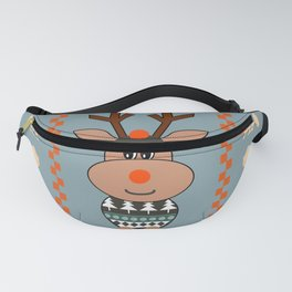 Reindeer and bears- winter decor Fanny Pack