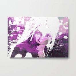 Sakura Girl Metal Print