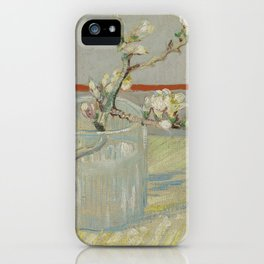 Sprig of Flowering Almond in a Glass iPhone Case