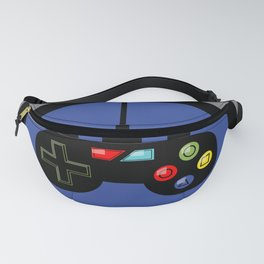 Game Controller in Blue Target Fanny Pack