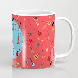 Music is my life (Soft red) Coffee Mug