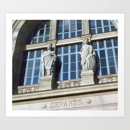 Gare du Nord, Paris Art Print