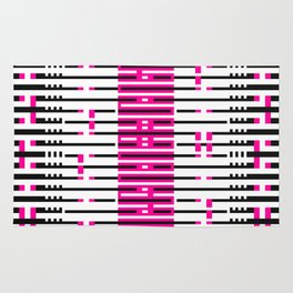 Licorice Bytes, No.10 in Black and Pink Rug