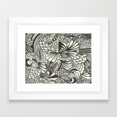 Doodles and Swirls Framed Art Print