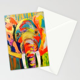 Colorful Elephant Stationery Cards