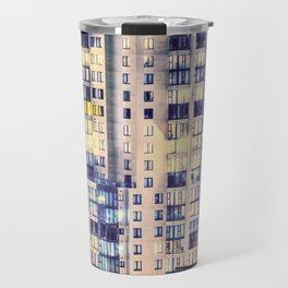 Pastel Urban Sprawl Cityscape Travel Mug