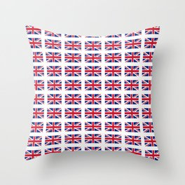 flag of uk 3 - London,united kingdom,england,english,british,great britain,Glasgow,scotland,wales Throw Pillow