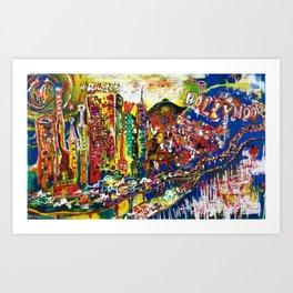 Hollywood Dreams Art Print