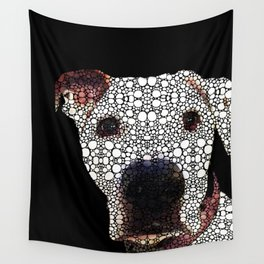 Stone Rock'd Dog 2 by Sharon Cummings Wall Tapestry
