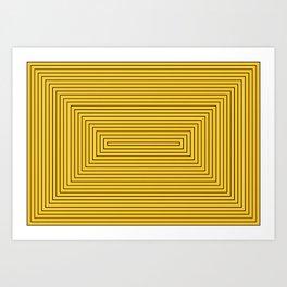 Rectangles yellow black Art Print