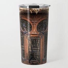 Art Nouveau 7th Arrondissement Paris France Ornate Doorway Travel Mug