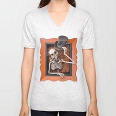 Rucus Studio Gentleman Skeleton Unisex V-Neck