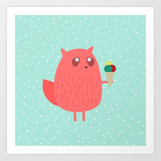 Ice cream dreams #1 Art Print
