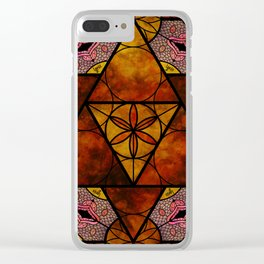 Sacred Geometry for your daily life -  Platonic Solids - IGNIS Clear iPhone Case