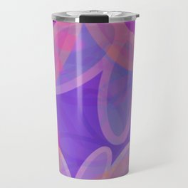 FIORI bright jumbo floral abstract in vivid pink purple blue Travel Mug