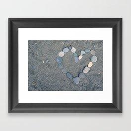 Stone Heart Framed Art Print
