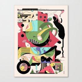 Cat on Tree Canvas Print