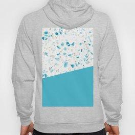 Terrazzo Texture Pacific Light Blue #5 Hoody