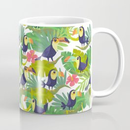 Toucan Paradise Pattern Coffee Mug