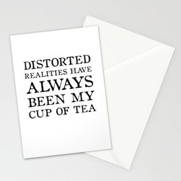Distorted Realities - Virginia Woolf quote for tea drinker! Stationery Cards