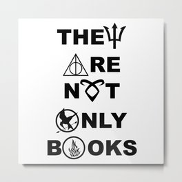 They Are Not Only Books Metal Print