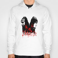 rick grimes Hoodies featuring Daryl Dixon and Rick Grimes by artandawesome