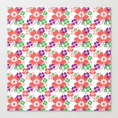 lucky flower multi Canvas Print