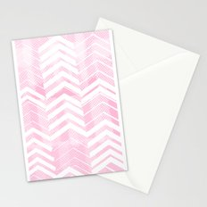 Pretty in Pink Chevron Stationery Cards