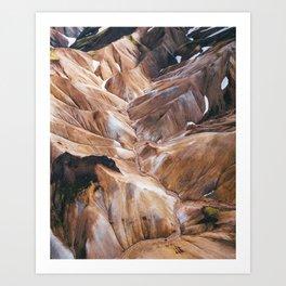 Gelato Mountains Art Print