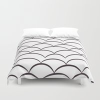 stark Duvet Covers featuring Stark Scales by SonyaDeHart