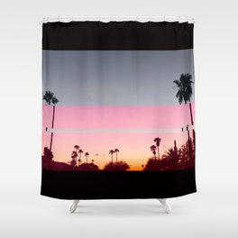Palm tree infierno Shower Curtain