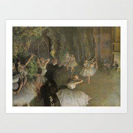 Edgar Degas The Rehearsal Onstage Art Print