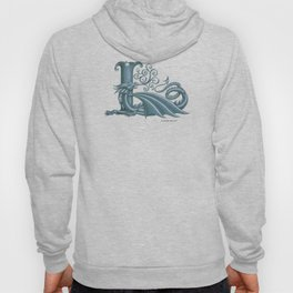 """Dragon Letter L, from """"Dracoserific"""", a font full of Dragons Hoody"""